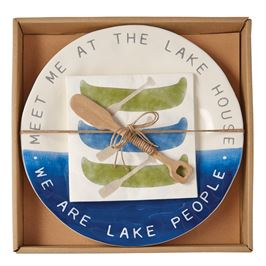 Lake Cheese Plate Set in Gift Box
