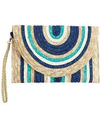 Mudpie Mint/Navy Clutch