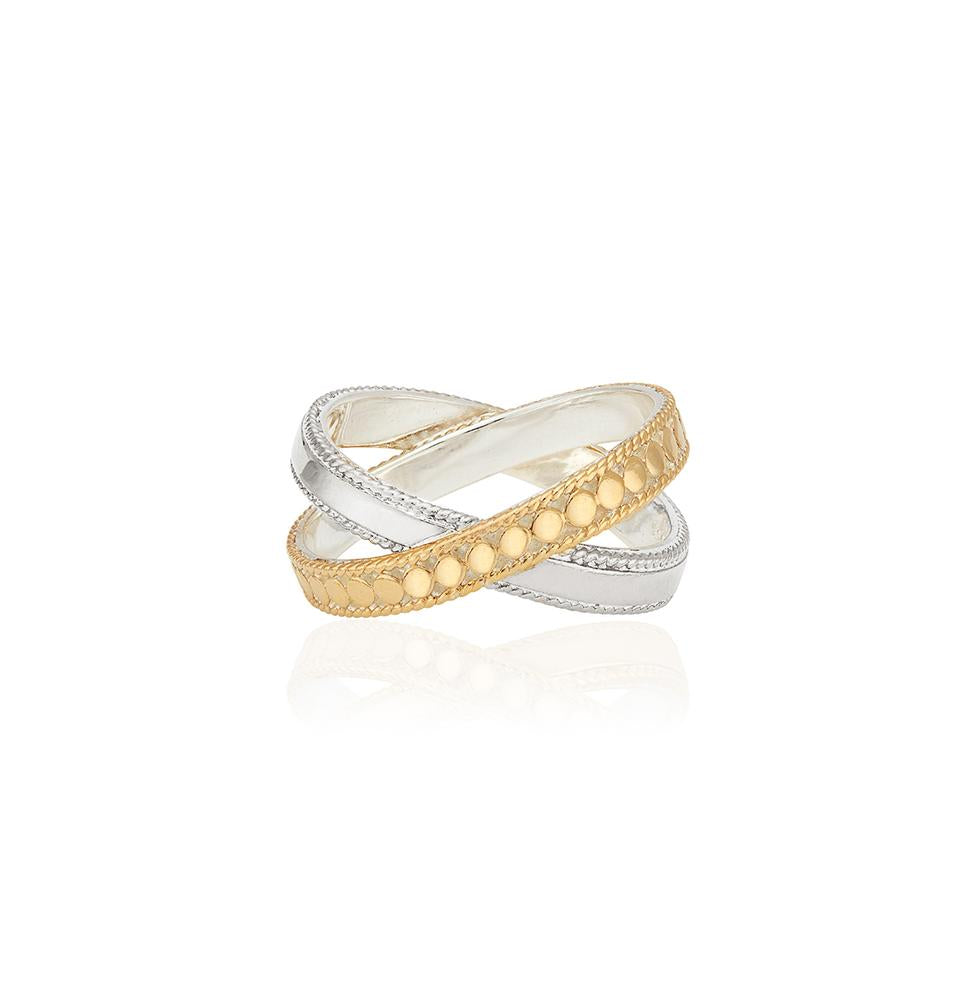 Anna Beck Mixed Metal Ring Gold & Silver