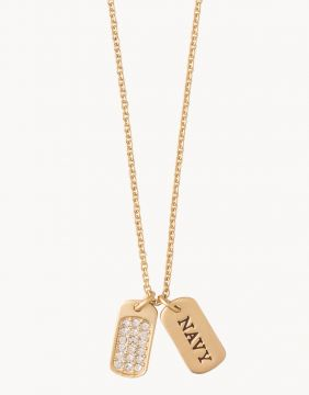 Spartina Navy Necklace in Gold