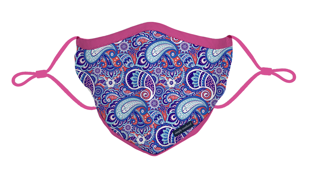 Simply Southern Paisley Face Mask