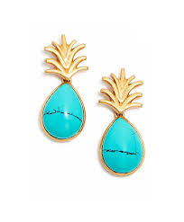 Julie Vos Turquoise Pineapple Earrings