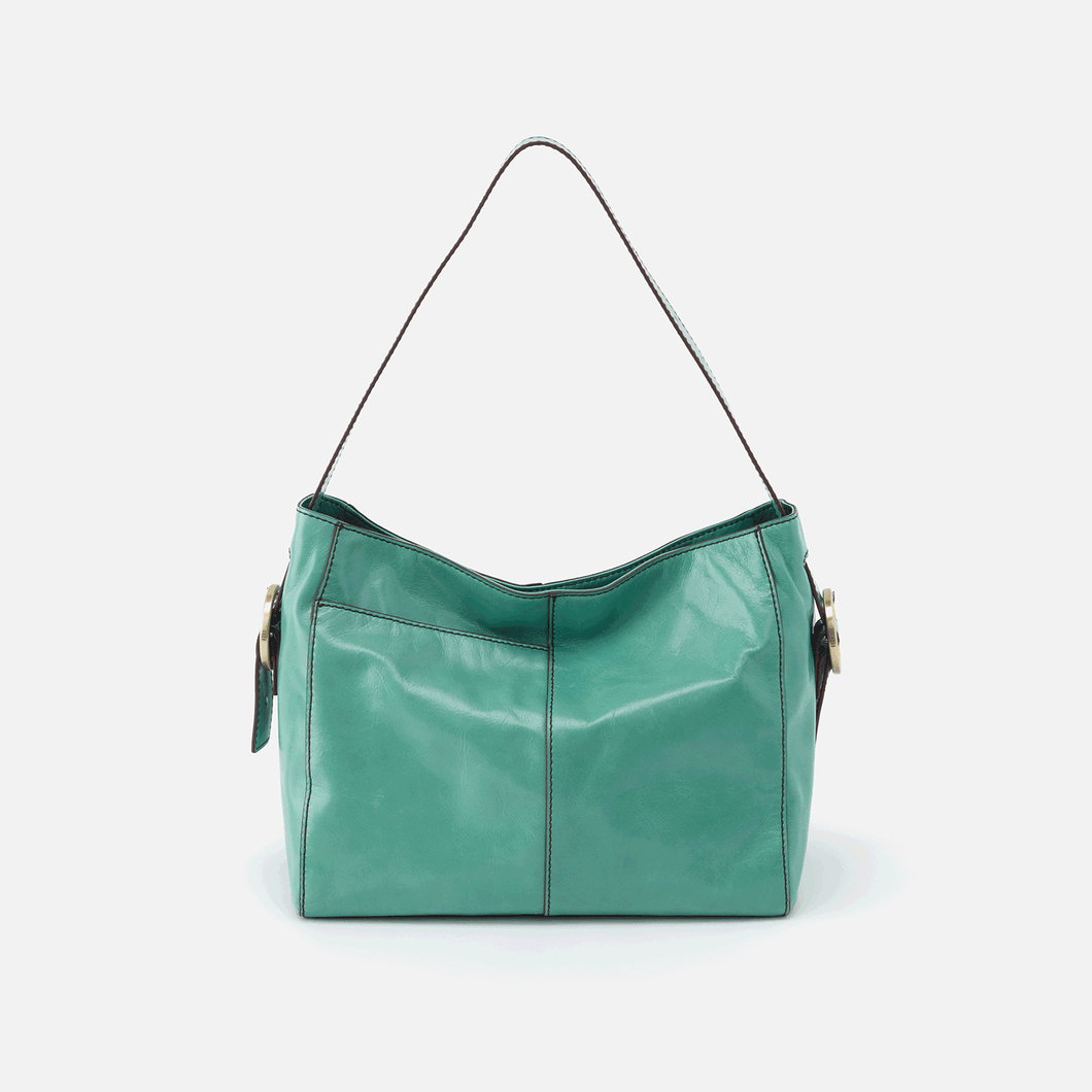 Hobo Render Seafoam Leather Shoulder Bag