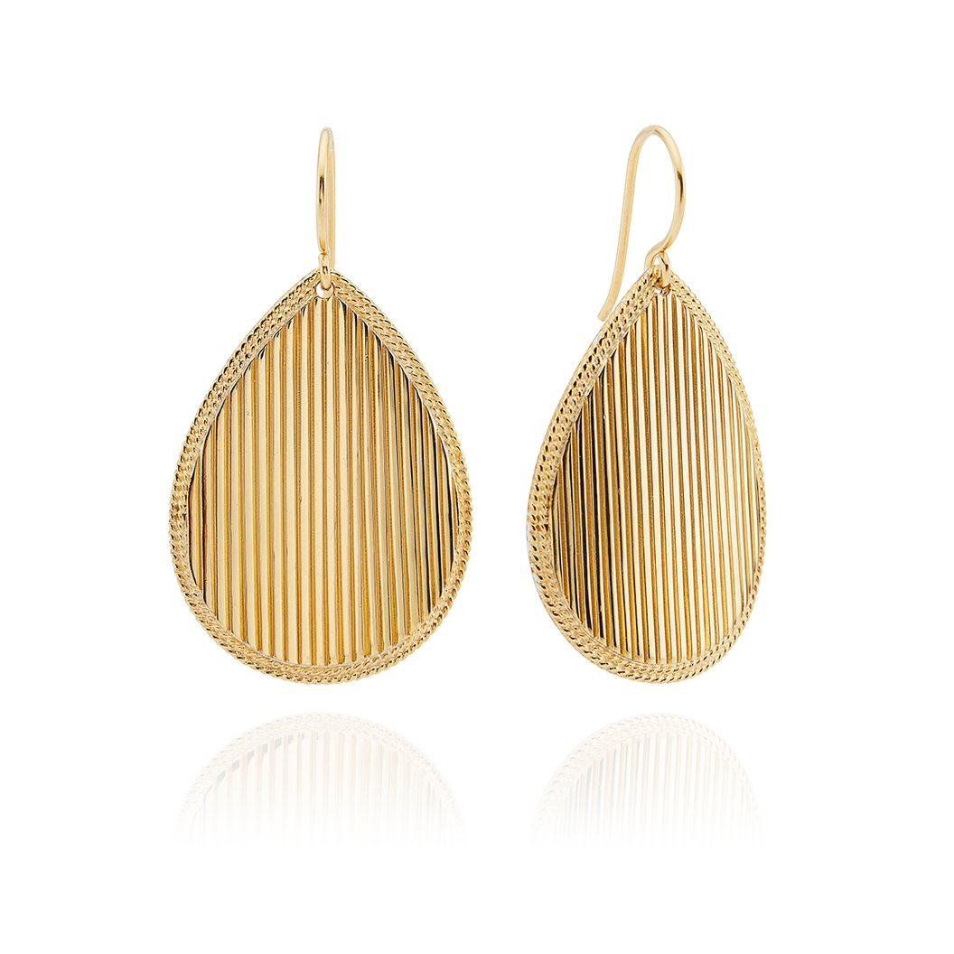 Anna Beck Ribbed Teardrop Earrings