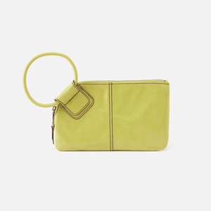 Hobo Sable Lemongrass Leather Wristlet