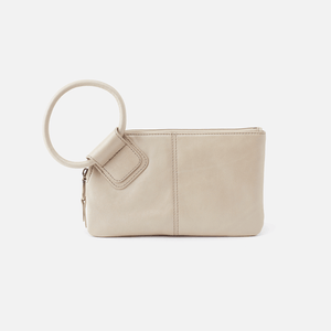 Hobo Sable Sandshell Leather Wristlet
