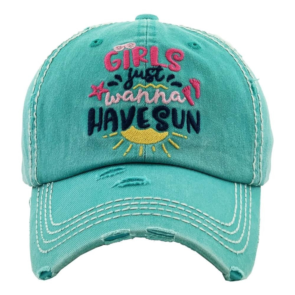 Girls Just Wanna have Sun Hat Mint