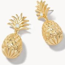 Spartina Sweet Pineapple Earrings Gold