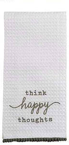 Mudpie Think Happy Thoughts Tea Towel