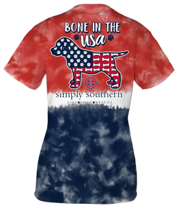 Simply Southern T Shirt Born in the USA