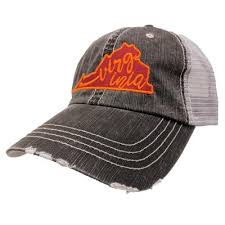 Virginia Hat in Maroon & Orange