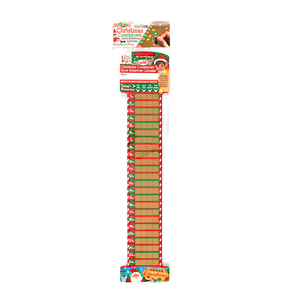 Xmas Elves BB Scratch Off Countdown Calendar
