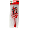 Xmas Elves BB Elf Spiral Drinking Straws