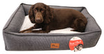 PLUSH DOG LOUNGER  ZIP
