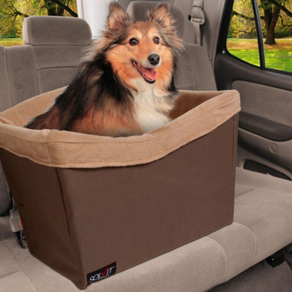 HAPPY RIDE PET SAFETY SEAT BROWN