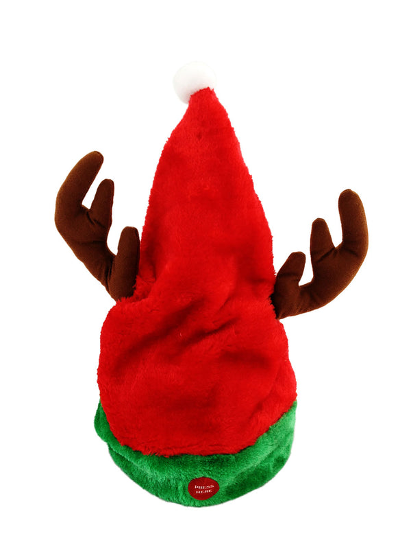 MUSICAL AND MOVING XMAS HAT WITH ANTLERS