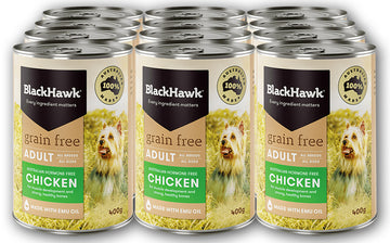 BLACK HAWK GRAIN FREE 12X400G Cans