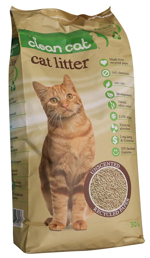 CLEAN CAT PAPER LITTER 30L