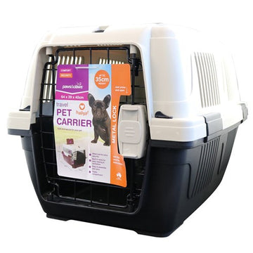 DELUXE PET CARRIER WITH LOCK LARGE 63X41X40CM