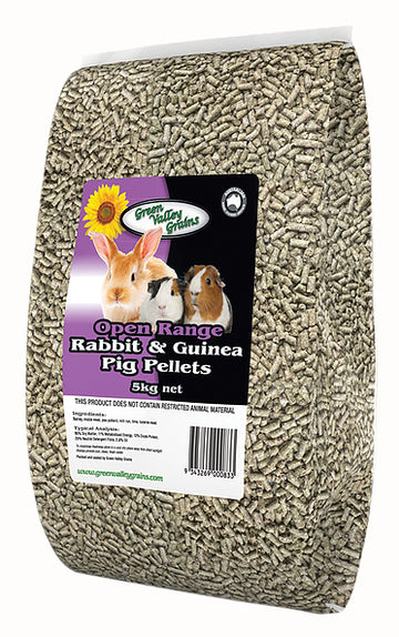 GREEN VALLEY - RABBIT & GUINEA PIG PELLETS 5KG