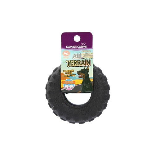 ALL TERRAIN RUBBER TYRE CHEW TOY