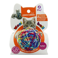 CAT TOY WOOL BALL WITH RATTLE