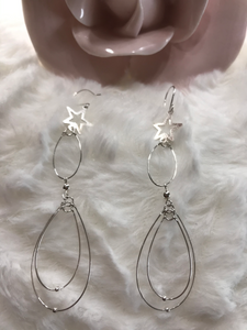 3D Earrings With Star