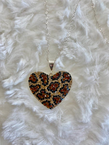Leopard Crystal Heart