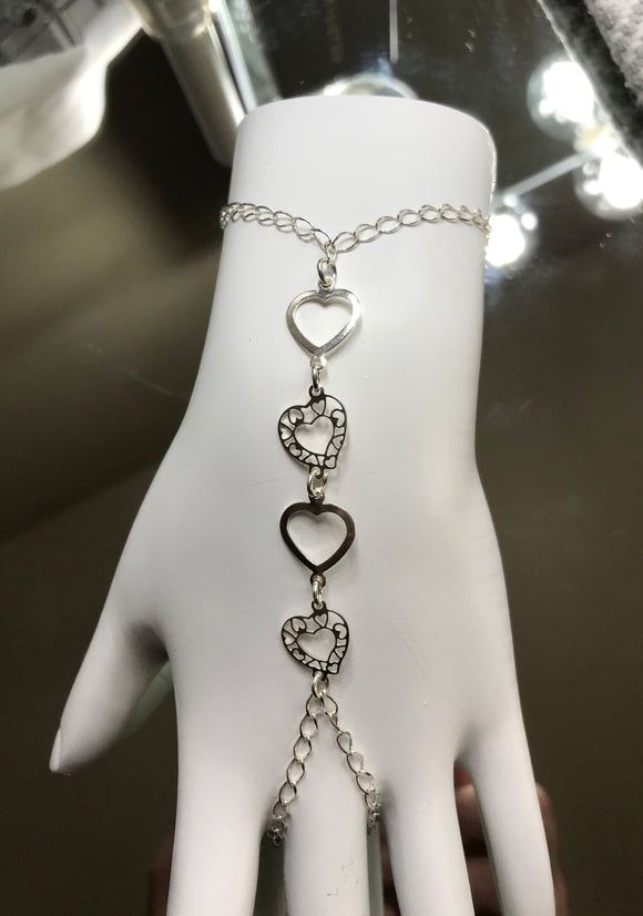 Heart Bracelet and Ring Combo