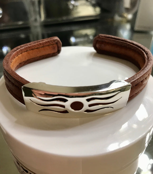 Leather Bracelet With Sun