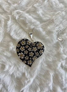 Flowered Heart Pendant