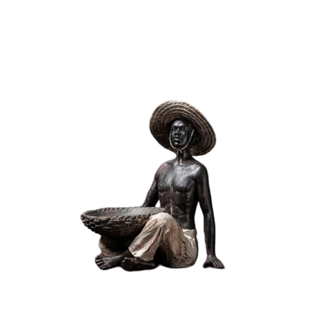 Homme assis statue africaine