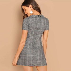 Short Sleeve Flared Dress - fashiontweaks.com