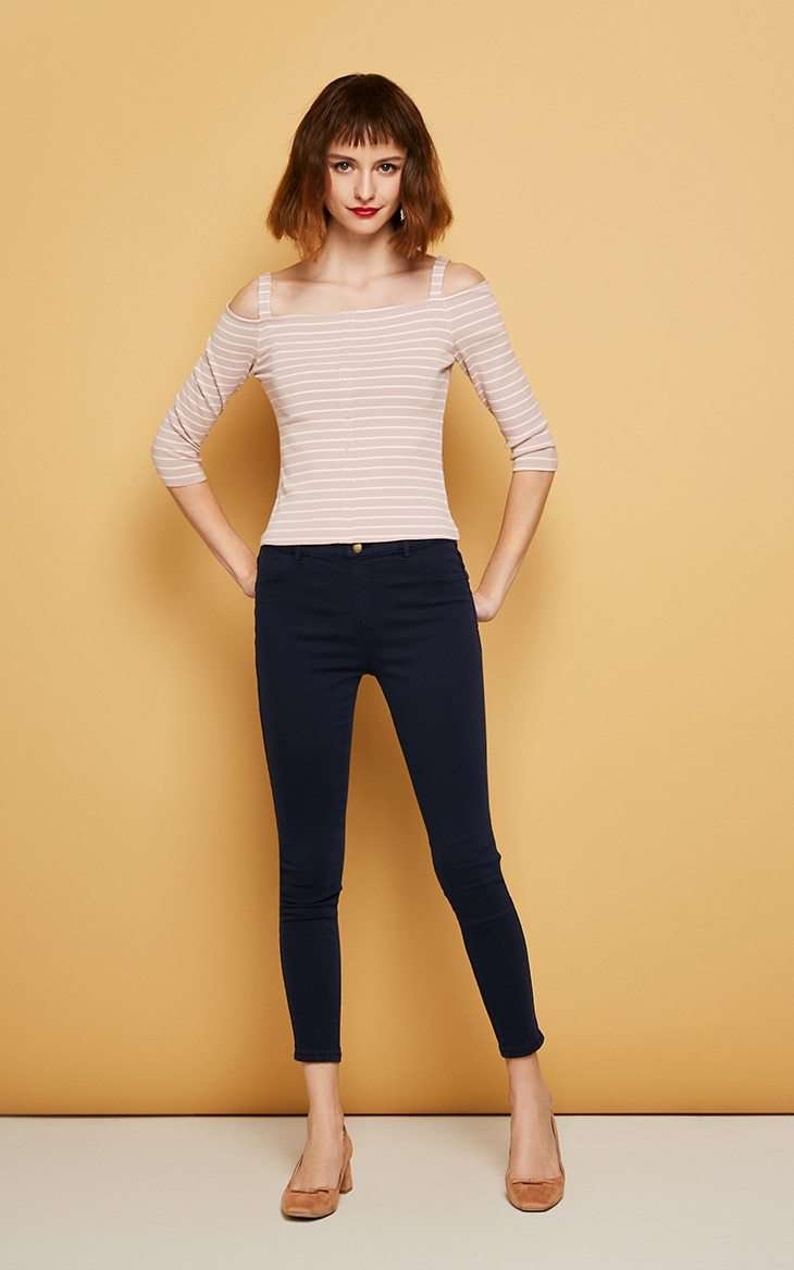 Vero Moda Slim wrap stretch denim pants Jeans - fashiontweaks.com