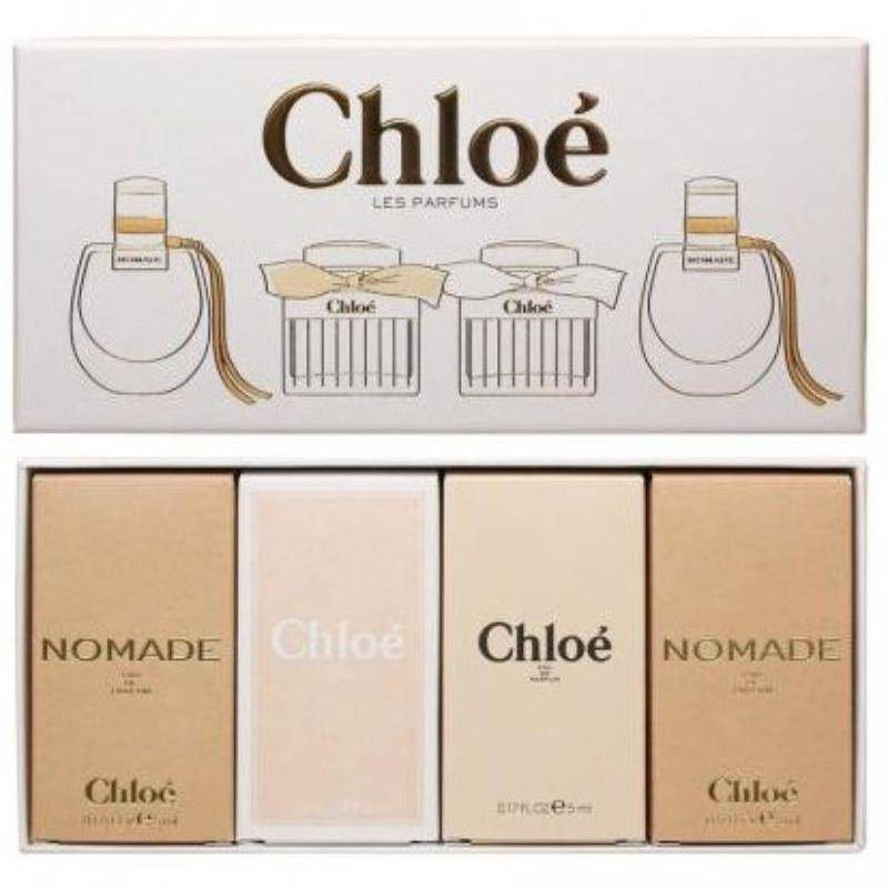 Chloe Women's 4 Piece Mini Perfume Set - 2 Nomade 5ml EDP  Chloe 5ml EDT  Chloe 5ml EDP