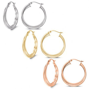 Silver, gold and rose Gold Earing