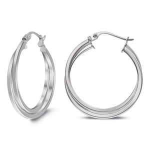 Large Silver Earing