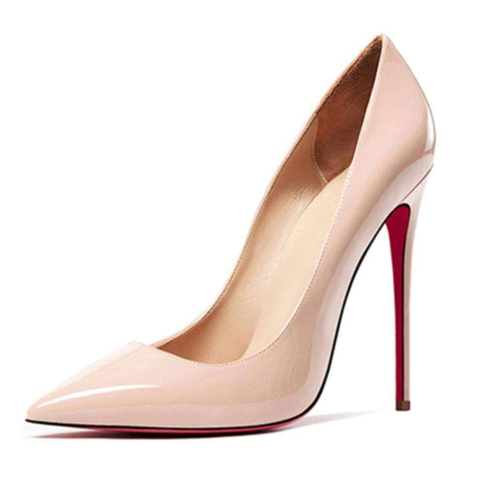 Thin Heel Wedding Red Bottom Pointed Toe - fashiontweaks.com