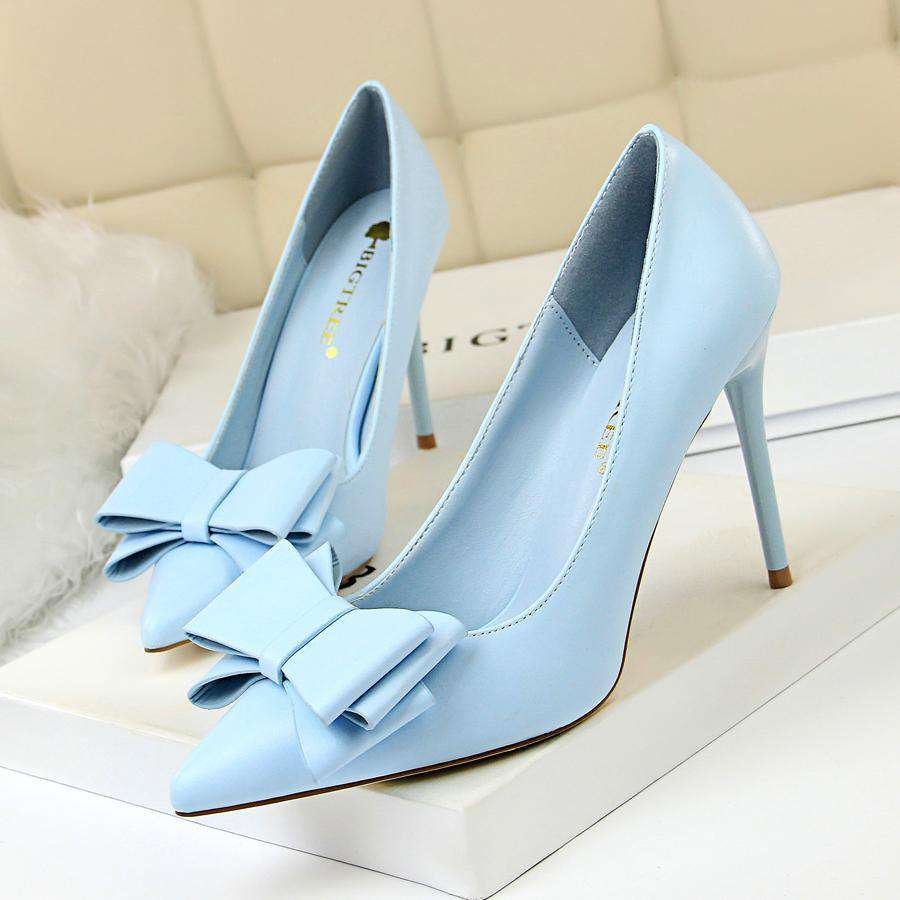cute bow women high heels - fashiontweaks.com
