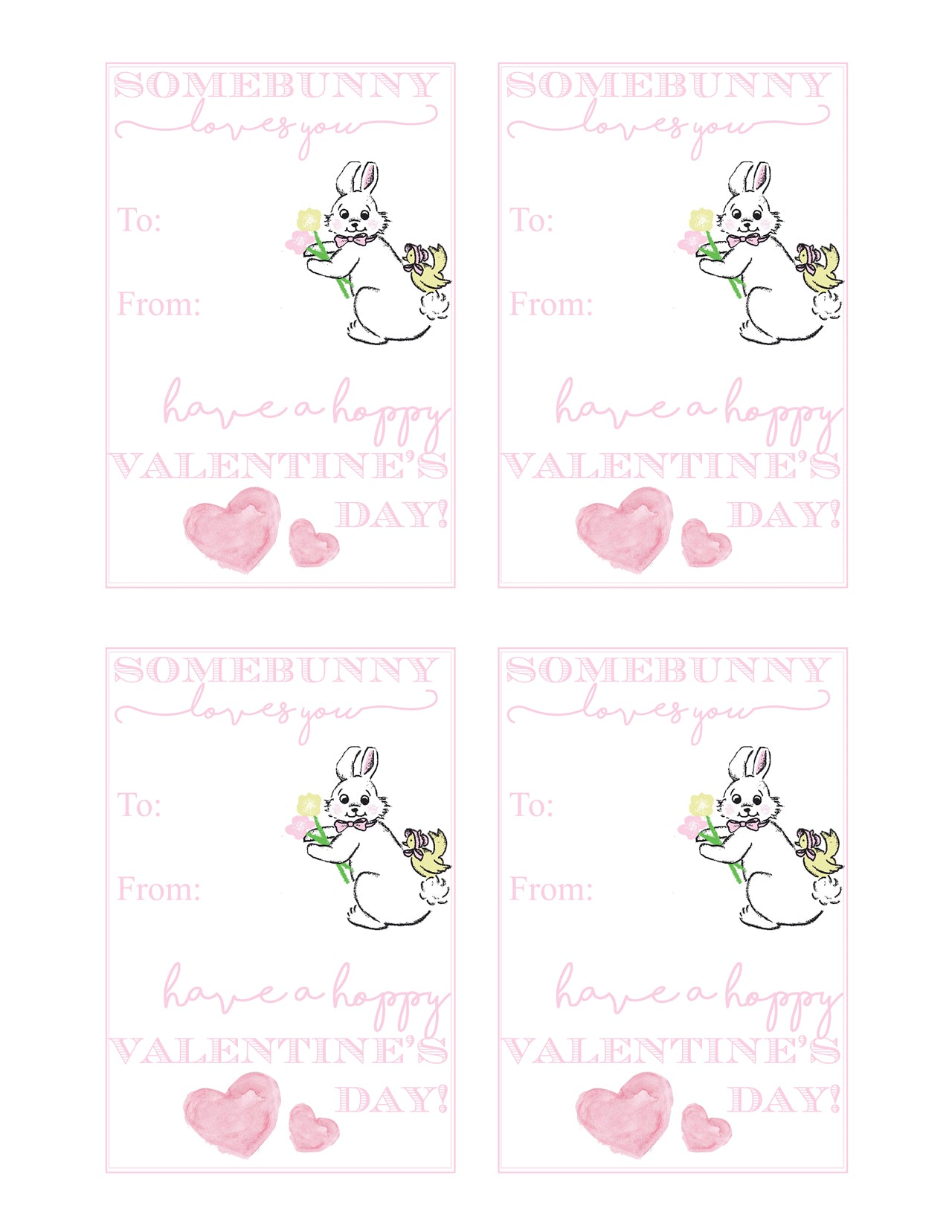 Somebunny Loves You T.B.B.C. Valentine