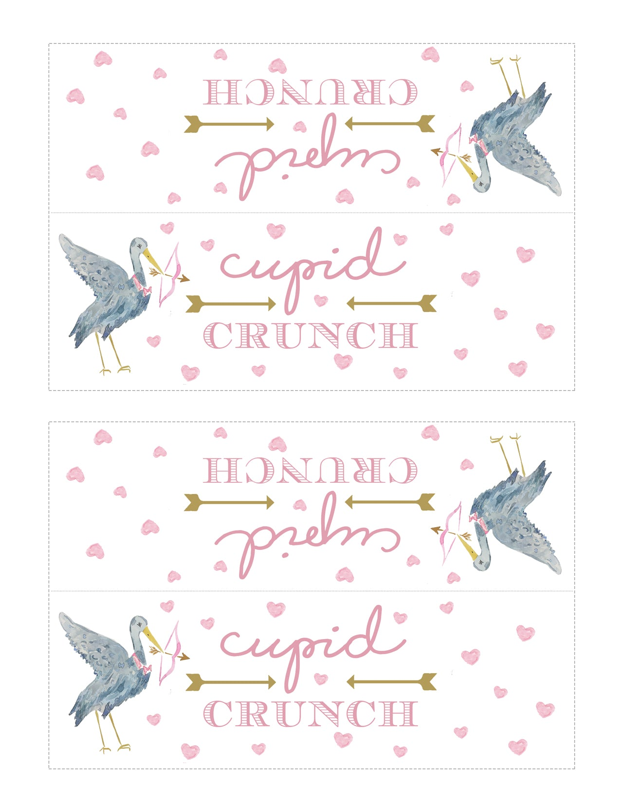 T.B.B.C. Valentine Treat: Cupid Crunch Template