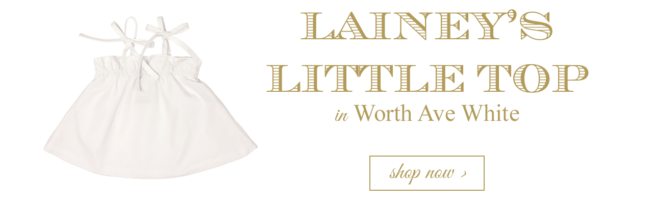 Lainey's Little Top in Worth Ave White