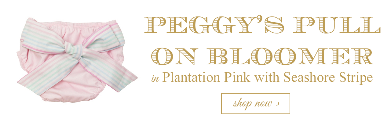 Peggy's Pull-On Bloomer in Plantation Pink with Seashore Stripe