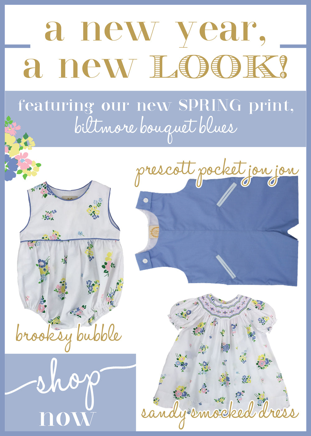 A New Year, A New Look: Spring 2018 -- Biltmore Bouquet Blues | The Beaufort Bonnet Company | The Well To Do Review