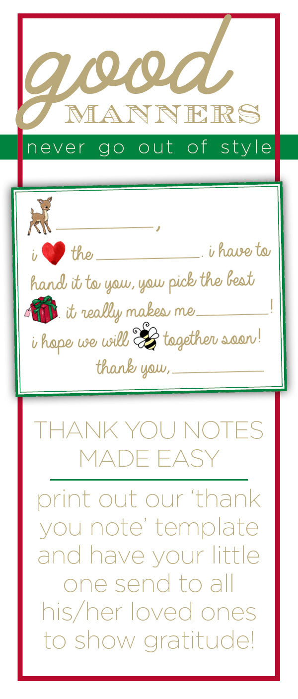 Thank you letter printable
