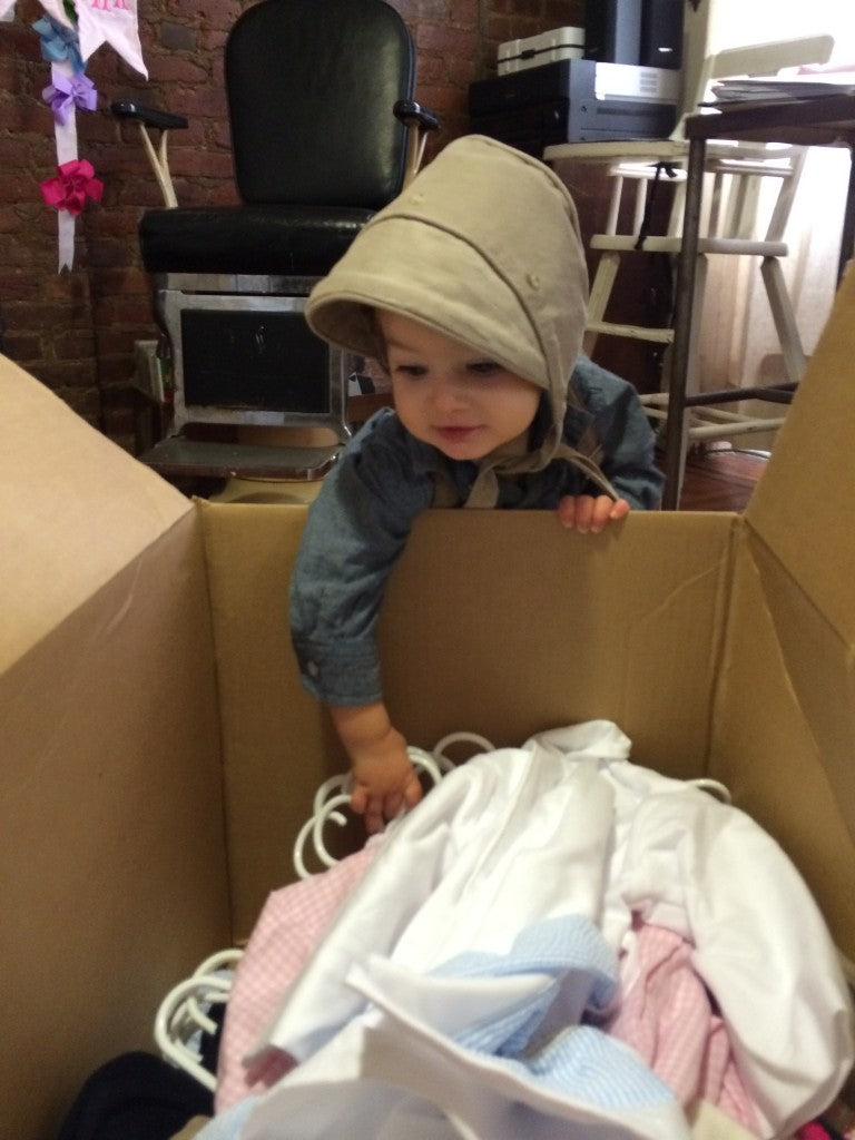 Beckett recently hosted a Beaufort Bonnet trunk show in his home state of New York.  He simply couldn't keep his hands off the outfits.  This kid has style baby!