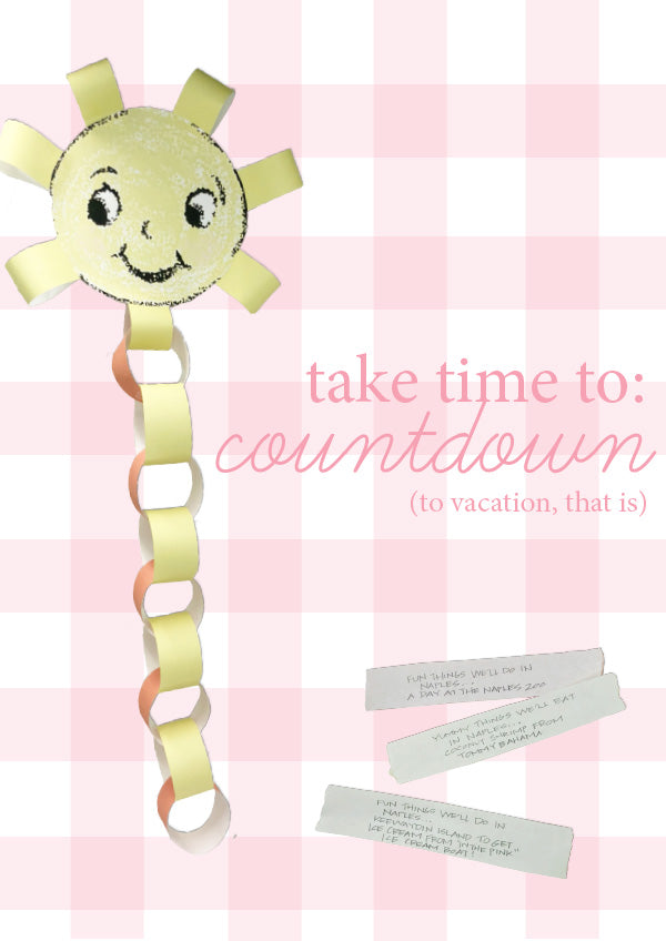 Countdown to vacation craft
