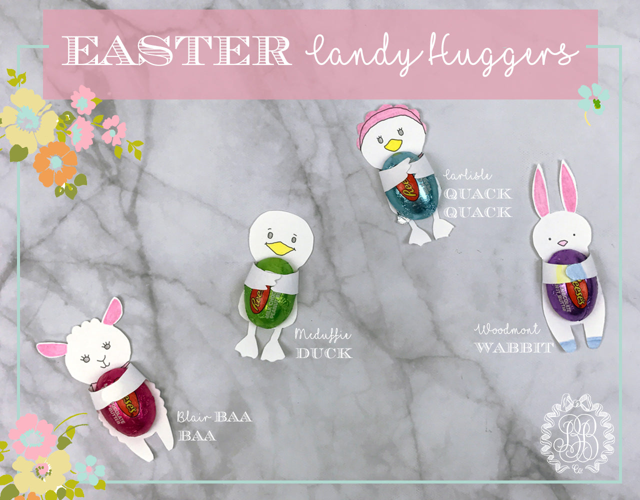 Printable Easter Candy Huggers // T.B.B.C.