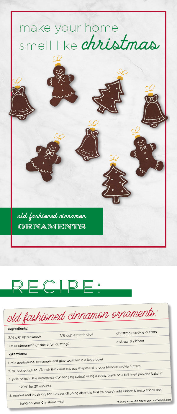 Old fashioned cinnamon ornament recipe