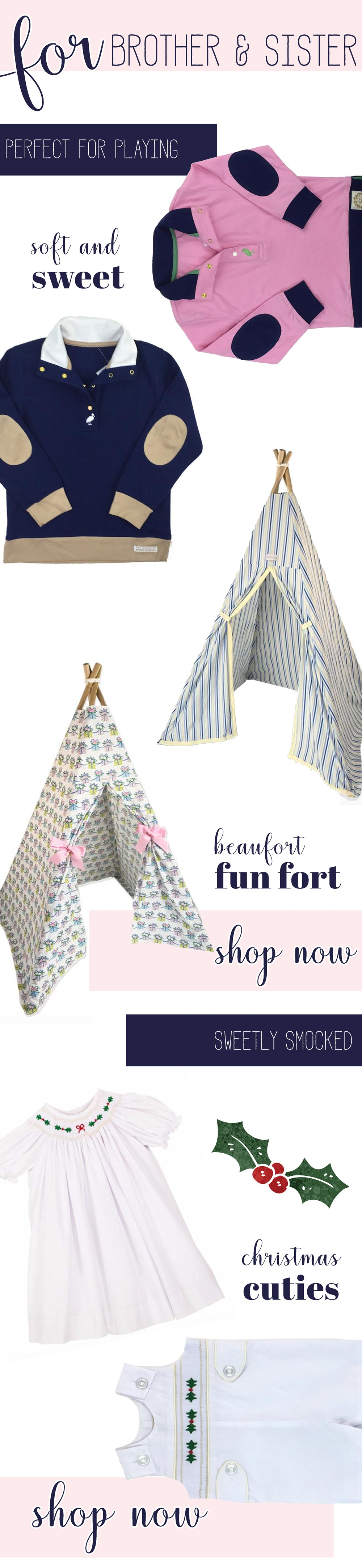 The Beaufort Bonnet Company Christmas 2017 Gift Guides | For Brother and Sister featuring playwear